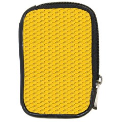Yellow Dots Pattern Compact Camera Cases by BangZart