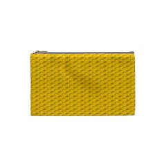 Yellow Dots Pattern Cosmetic Bag (small)  by BangZart