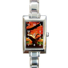 Maple Tree Nice Rectangle Italian Charm Watch by BangZart