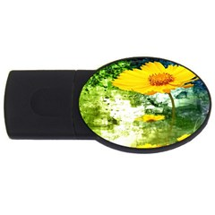 Yellow Flowers Usb Flash Drive Oval (2 Gb) by BangZart