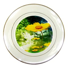 Yellow Flowers Porcelain Plates