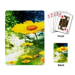 Yellow Flowers Playing Card