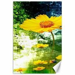 Yellow Flowers Canvas 24  X 36  by BangZart