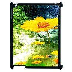 Yellow Flowers Apple Ipad 2 Case (black) by BangZart