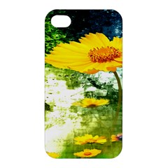 Yellow Flowers Apple Iphone 4/4s Hardshell Case by BangZart