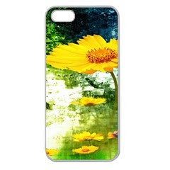 Yellow Flowers Apple Seamless Iphone 5 Case (clear) by BangZart