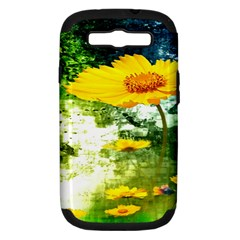Yellow Flowers Samsung Galaxy S Iii Hardshell Case (pc+silicone) by BangZart
