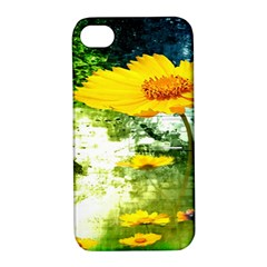 Yellow Flowers Apple Iphone 4/4s Hardshell Case With Stand by BangZart