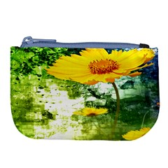 Yellow Flowers Large Coin Purse by BangZart