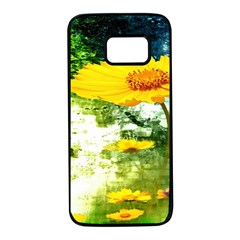Yellow Flowers Samsung Galaxy S7 Black Seamless Case by BangZart