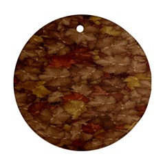 Brown Texture Round Ornament (two Sides)