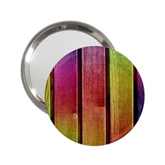 Colourful Wood Painting 2 25  Handbag Mirrors by BangZart