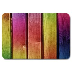 Colourful Wood Painting Large Doormat  by BangZart