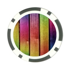 Colourful Wood Painting Poker Chip Card Guard (10 Pack)