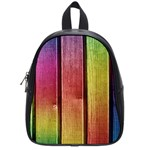 Colourful Wood Painting School Bags (Small)  Front