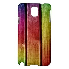 Colourful Wood Painting Samsung Galaxy Note 3 N9005 Hardshell Case by BangZart
