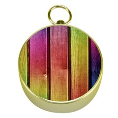 Colourful Wood Painting Gold Compasses by BangZart