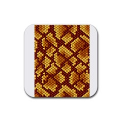 Snake Skin Pattern Vector Rubber Square Coaster (4 Pack)