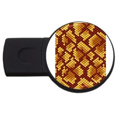 Snake Skin Pattern Vector Usb Flash Drive Round (2 Gb) by BangZart