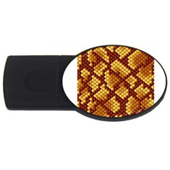 Snake Skin Pattern Vector Usb Flash Drive Oval (4 Gb) by BangZart