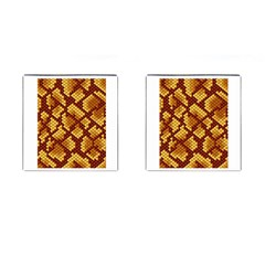 Snake Skin Pattern Vector Cufflinks (square) by BangZart