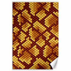 Snake Skin Pattern Vector Canvas 24  X 36  by BangZart