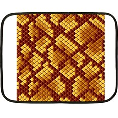Snake Skin Pattern Vector Double Sided Fleece Blanket (mini)  by BangZart