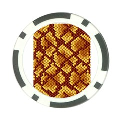 Snake Skin Pattern Vector Poker Chip Card Guard (10 Pack) by BangZart