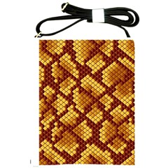 Snake Skin Pattern Vector Shoulder Sling Bags