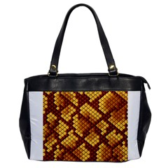 Snake Skin Pattern Vector Office Handbags by BangZart
