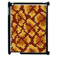 Snake Skin Pattern Vector Apple Ipad 2 Case (black)