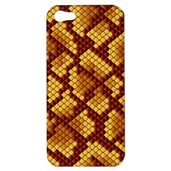 Snake Skin Pattern Vector Apple Iphone 5 Hardshell Case by BangZart