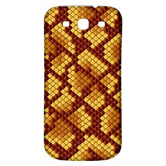 Snake Skin Pattern Vector Samsung Galaxy S3 S Iii Classic Hardshell Back Case by BangZart