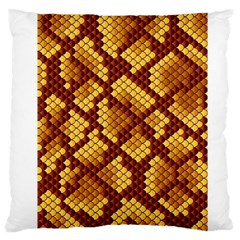 Snake Skin Pattern Vector Large Flano Cushion Case (two Sides) by BangZart