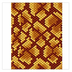 Snake Skin Pattern Vector Large Satin Scarf (square) by BangZart