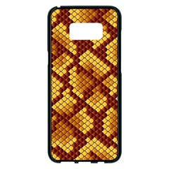 Snake Skin Pattern Vector Samsung Galaxy S8 Plus Black Seamless Case