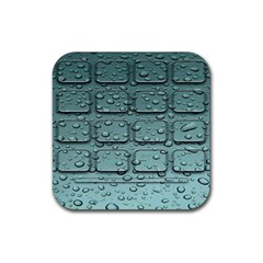 Water Drop Rubber Square Coaster (4 Pack)  by BangZart