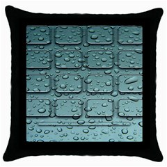 Water Drop Throw Pillow Case (black) by BangZart