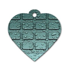 Water Drop Dog Tag Heart (two Sides) by BangZart