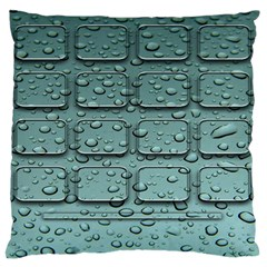 Water Drop Large Flano Cushion Case (two Sides) by BangZart
