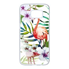 Mingo Samsung Galaxy S7 Edge White Seamless Case by LimeGreenFlamingo