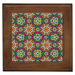 Jewel Tiles Kaleidoscope Framed Tiles by WolfepawFractals