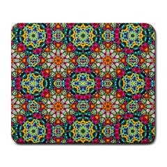 Jewel Tiles Kaleidoscope Large Mousepads by WolfepawFractals