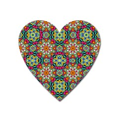 Jewel Tiles Kaleidoscope Heart Magnet by WolfepawFractals