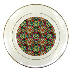 Jewel Tiles Kaleidoscope Porcelain Plates by WolfepawFractals