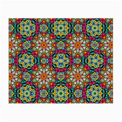 Jewel Tiles Kaleidoscope Small Glasses Cloth (2 Side) by WolfepawFractals