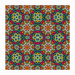 Jewel Tiles Kaleidoscope Medium Glasses Cloth (2 Side) by WolfepawFractals