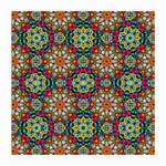 Jewel Tiles Kaleidoscope Medium Glasses Cloth (2-Side) Front