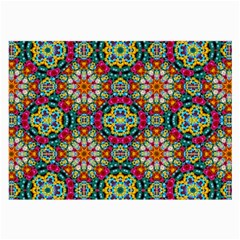 Jewel Tiles Kaleidoscope Large Glasses Cloth (2 Side) by WolfepawFractals