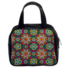 Jewel Tiles Kaleidoscope Classic Handbags (2 Sides) by WolfepawFractals